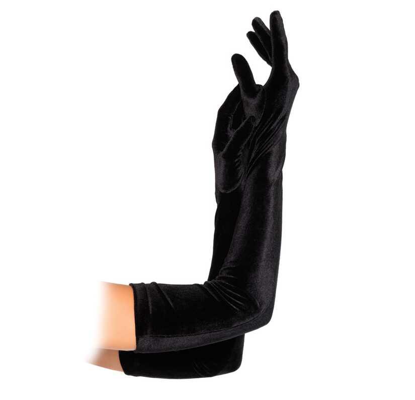 Lange handschoenen in velours