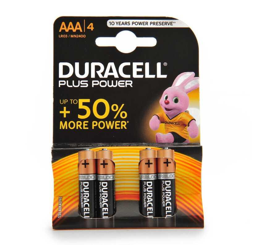 Batterijen Duracell AAA