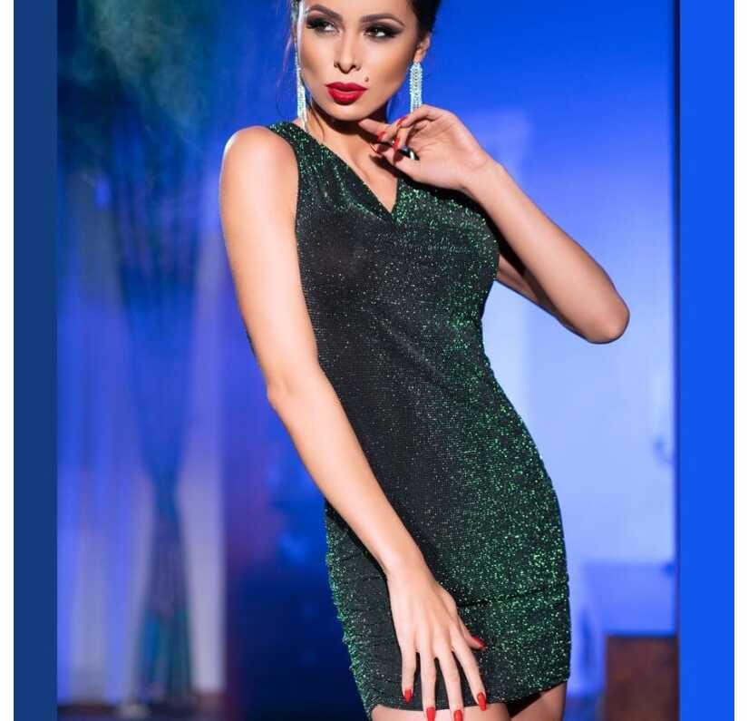 Groen glitter kleedje