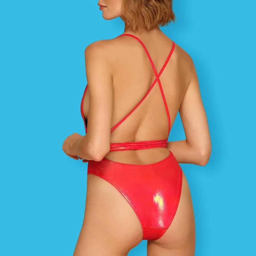 Vurig rood badpak